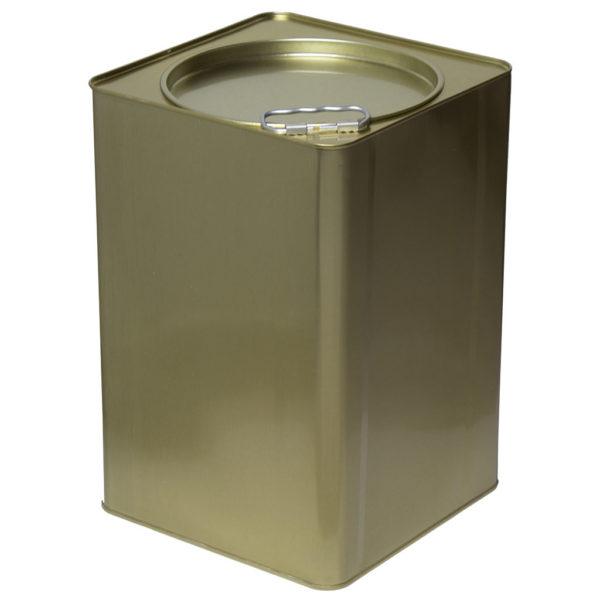 Μεταλλικό Δοχείο-Τενεκές Μελιού Λαδιού & Τροφίμων (Μεγάλο Καπάκι) 25kg Apimax