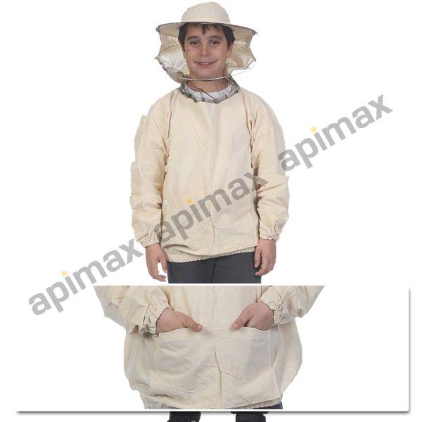 Παιδική Μελισσοκομική Μπλούζα με Μάσκα-Προσωπίδα Apimax Εκρού Φυσικό Eco