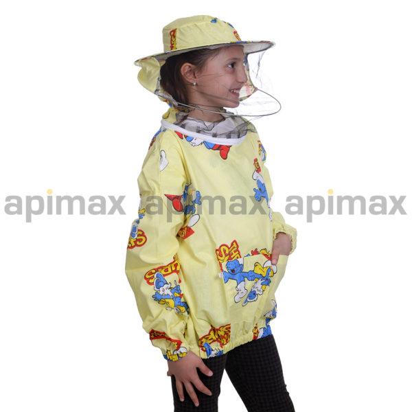 Παιδική Μελισσοκομική Μπλούζα με Μάσκα-Προσωπίδα με Παιδικά Σχέδια Apimax