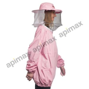 Γυναικείο Μελισσοκομικό Μπουφάν με Μάσκα-Προσωπίδα Τούλι-Τούλι Apimax Ροζ
