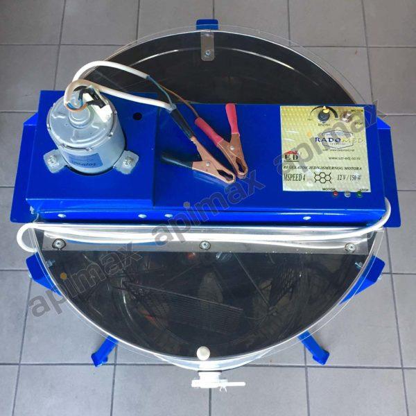 Ηλεκτρικός Μελιτοεξαγωγέας 4 Πλαισίων 12V Μονής Κατεύθυνσης INOX Apimax