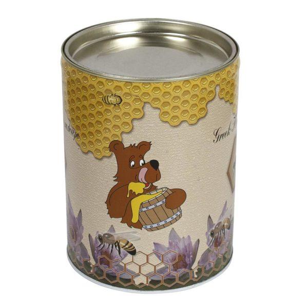 Μεταλλικό Βάζο-Δοχείο Μελιού Στρόγγυλο 1kg Apimax