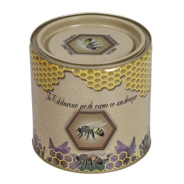 Μεταλλικό Βάζο-Δοχείο Μελιού Στρόγγυλο 2kg Apimax