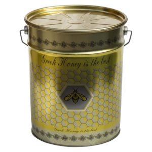 Μεταλλικός Κουβάς-Δοχείο Μελιού με Καπάκι & Τσέρκι 28 kgr Apimax
