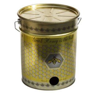 Μεταλλικός Κουβάς-Δοχείο Μελιού με Τρύπα για Κάνουλα 28 kgr Apimax