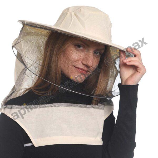 Μελισσοκομικό Καπέλο Μάσκα-Προσωπίδα ECO One Size Apimax Εκρού