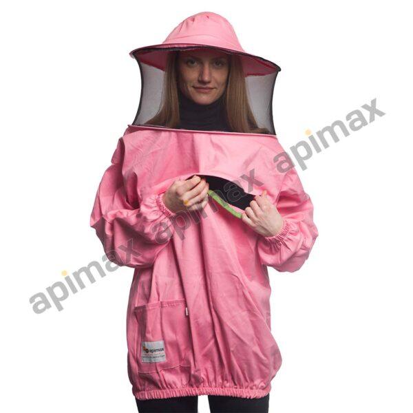 Γυναικεία Μελισσοκομική Μπλούζα με Μάσκα-Προσωπίδα CARGO Apimax Ροζ