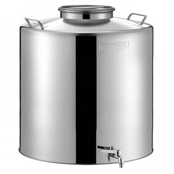 INOX Δοχείο Κρασιού-Λαδιού με Αεροστεγές Πώμα και Κάνουλα 28B180-15 METALBOX